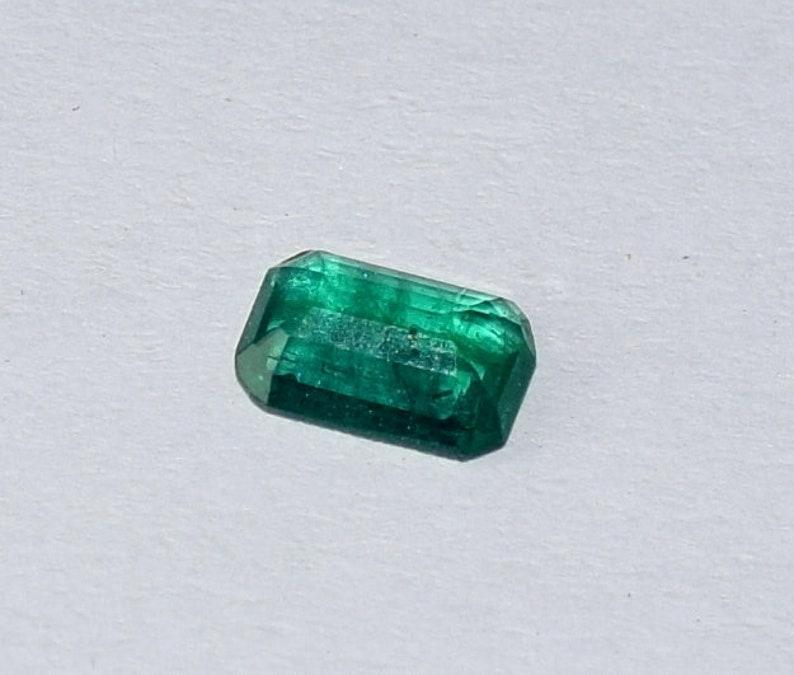 0.35 Carat 100/% Natural Green Emerald May Birthstone Zambian Emerald  faceted Emerald loose gemstone Faceted Oval  Emerald  EM-0009