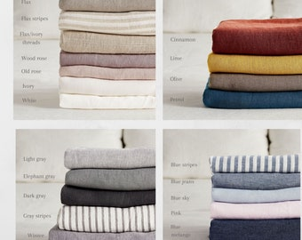 Linen Samples.  Linen fabric samples.  21 colors available. Linen fabric swatches.