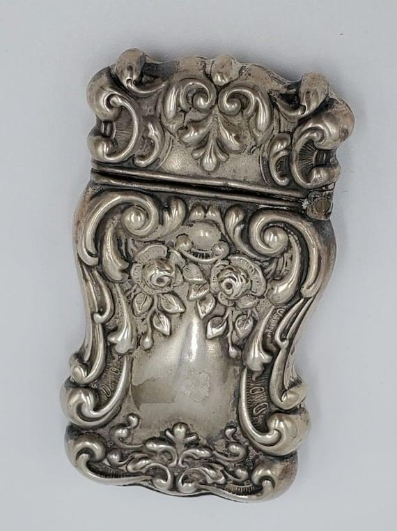 Art Nouveau Sterling silver matchbox - image 3