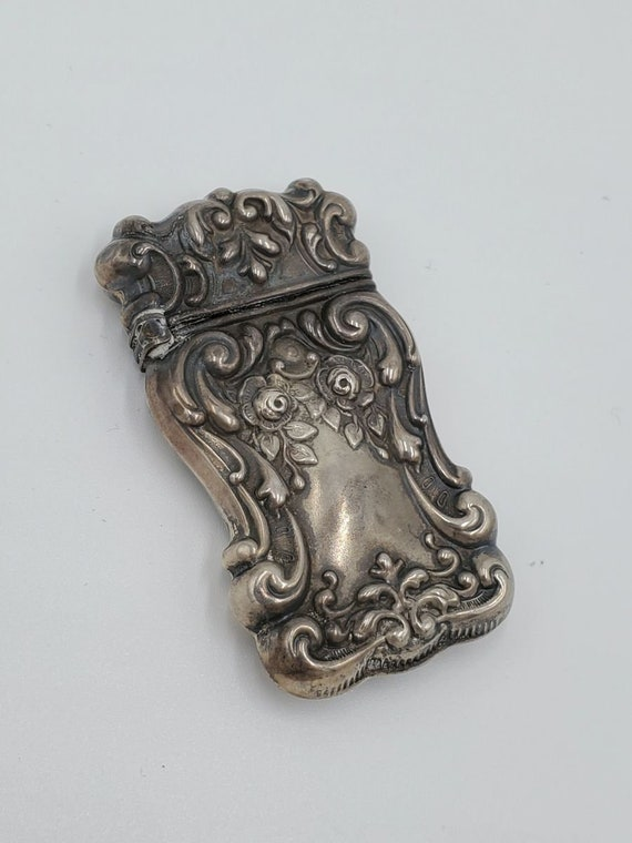 Art Nouveau Sterling silver matchbox - image 2