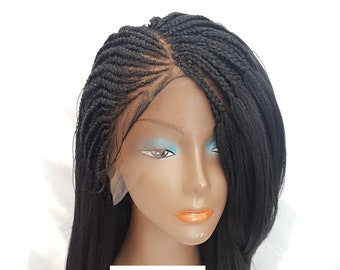 Hand Braided Pick And Drop Spiral Curl Wig Small Size Braids Etsy