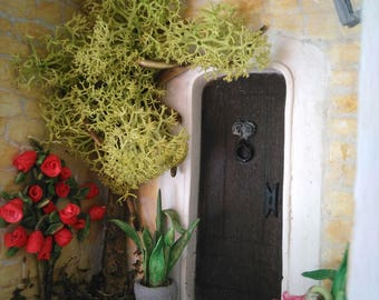 Diorama miniature - The old door