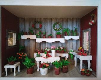 Flower shop Miniature Roombox