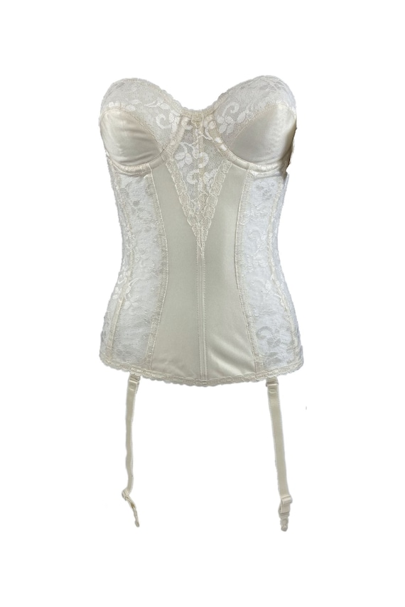 Vintage Deadstock NWT Carnival Strapless Lace Ivo… - image 1