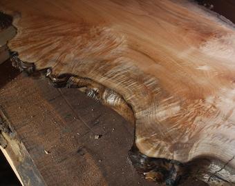 Big Leaf Maple Live Edge Floating Mantel // Fireplace