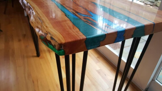 Resin River Live Edge Wood Table Live Edge Coffee Table Etsy