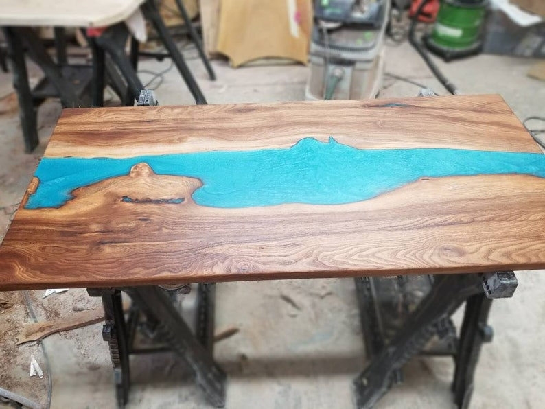 Coffee Table Resin River Live Edge Wood Table Live Edge Etsy