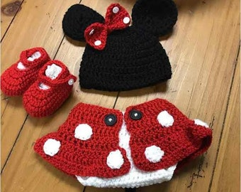 Minnie Mouse Baby Etsy