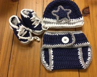 a12b4e640 Dallas Cowboys Baby Crochet Set