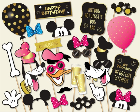 image about Minnie Mouse Photo Booth Props Printable identify Purple Mickey Mouse Picture Booth Props, Printable Birthday Bash Decorations, Minnie Mouse Donald Duck Goofy Pluto (#601-Crimson)