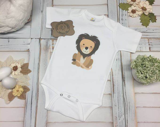Featured listing image: Little Handsome Lion Design, Jungle/Safari Animals, Handsome Boys Gift!  Available as an Infant / Toddler T-Shirt or Bodysuit (Onesie)!