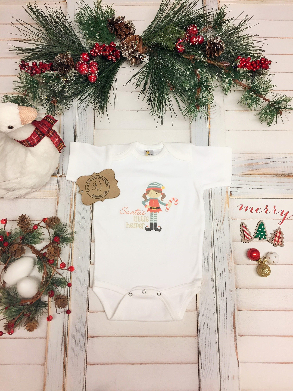 1st Christmas Dress, Elf Christmas Onesie, Baby Christmas Pjs ...