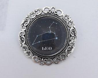 Leo Constellation Brooch