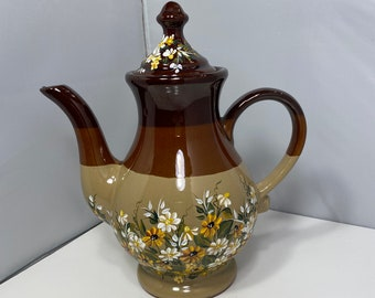 Brass And Copper Petite Teapot Small Tea Pot Two Tone Teapot Made In Holland Four Cup Capacity Gift For Her Urn Style Teapot Collectible