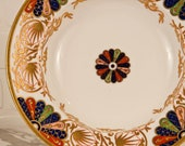 Antique 19th c. Copeland Porcelain Plate Saucer Bowl Imari Fan Worcester - Dr Wall