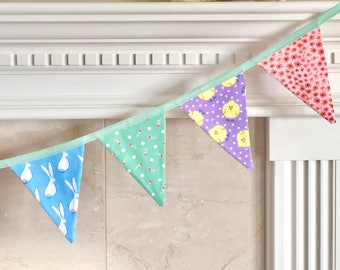 Easter Bunting - Easter and Spring - Reversible