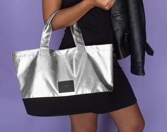 Cherub Metal Shopper Bag (Silver)
