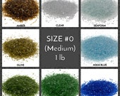 Crushed Glass for Arts and Crafts, Vase filler, Mosaics, Jewelry, Fusing, Crystals, Home Decorations - Galaxy Glass Size 0, 1lb