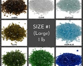 Crushed Glass for Arts and Crafts, Vase Filler, Mosaics, Jewelry, Fusing, Crystals, Aquarium, Home Decorations - Galaxy Glass Size 1, 1lb