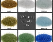 Crushed Glass for Arts and Crafts, Vase filler, Mosaics, Jewelry, Fusing, Crystals, Home Decorations - Galaxy Glass Size 00, 1lb