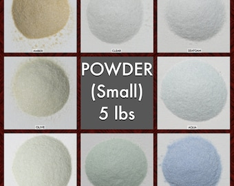 Size POWDER Galaxy Dust - BOX of 6, 5 lbs bags: BULK Small, very fine glass sand for arts, crafts and decor