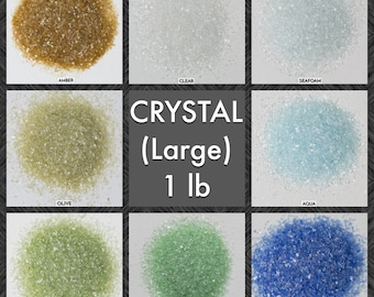 Size CRYSTAL Galaxy Dust - BOX of 30, 1 lbs bags: BULK Medium glass sand for arts, crafts and decor