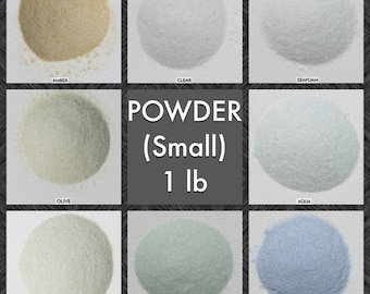 Size POWDER Galaxy Dust - BOX of 30, 1 lbs bags: BULK Small, very fine glass sand for arts, crafts and decor