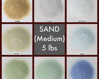 Size SAND Galaxy Dust - BOX of 6, 5 lbs bags: BULK Medium glass sand for arts, crafts and decor