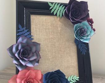 Vertical succulent frame -Black