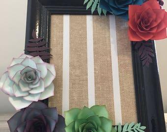 Vertical succulent black frame (Large)