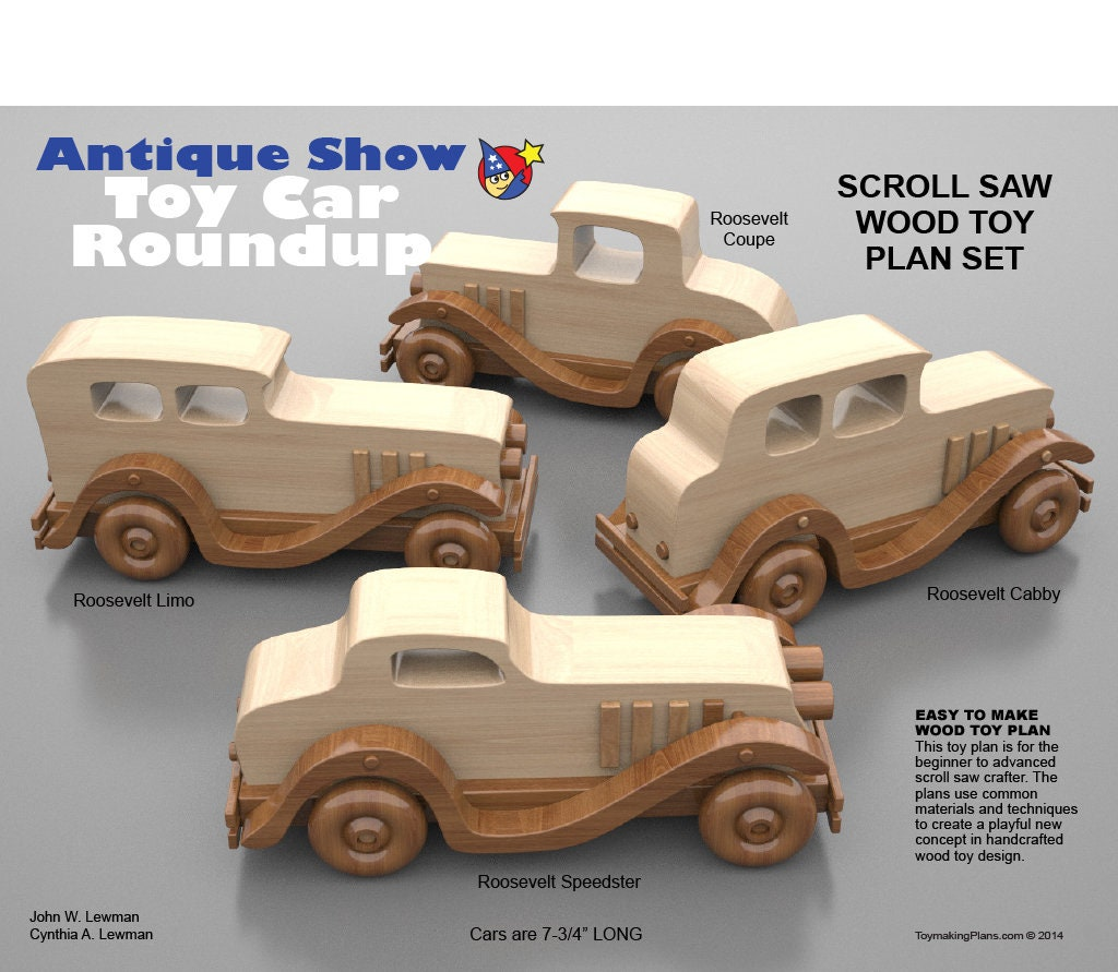 wood toy plan antique show toy car roundup (pdf download)