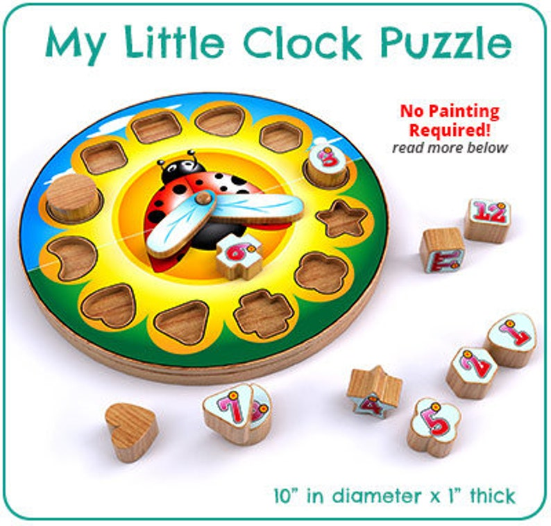 My Little Clock Puzzle Teaching Toy (PDF Download)
