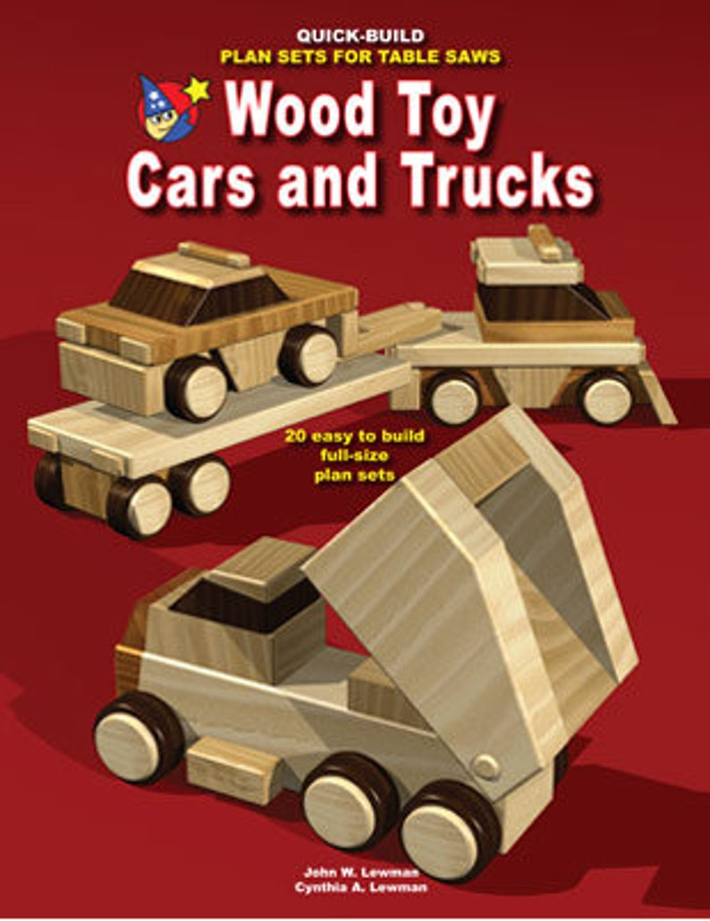 wood toy plans - wood toy cars and trucks (pdf ebook download)