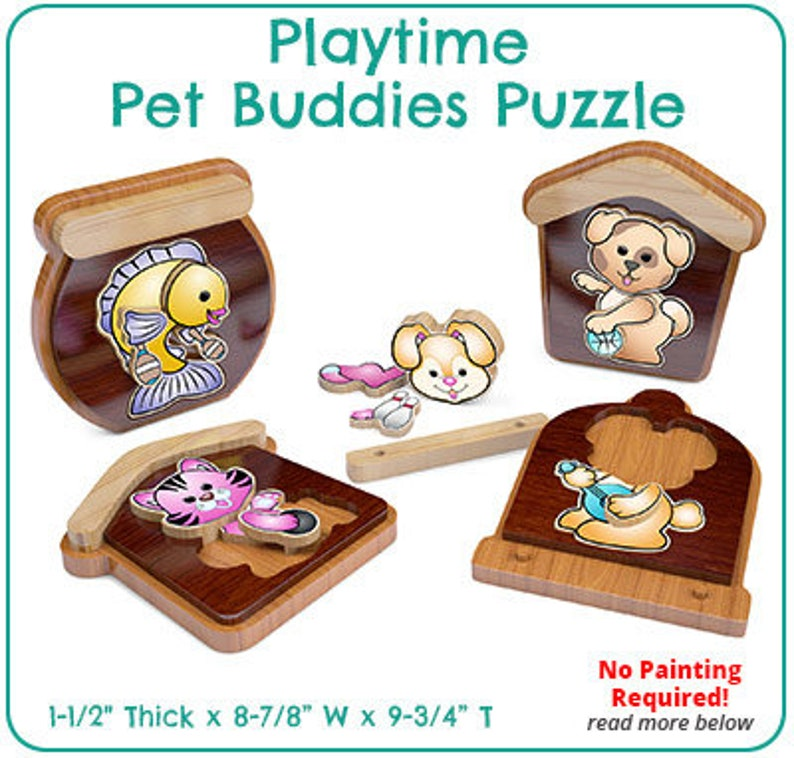 Playtime Pet Buddies Puzzle (PDF Download)
