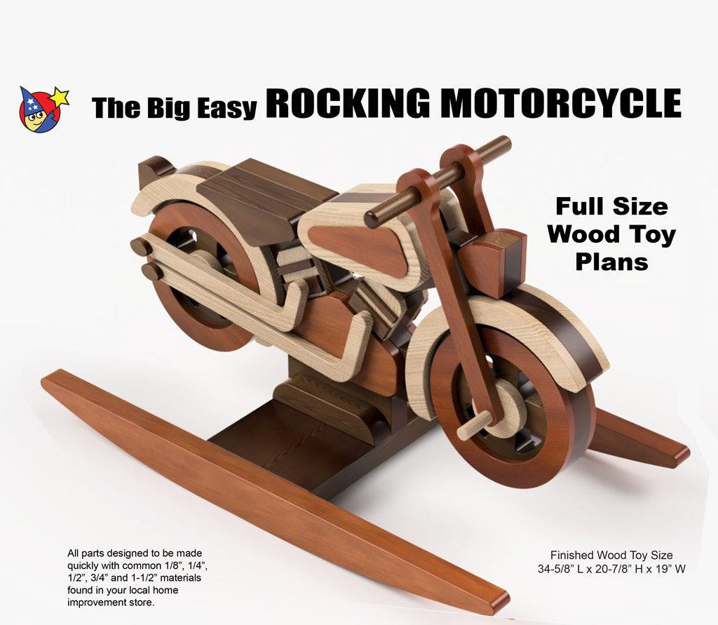 wood toy plan - the big easy rocking motorcyle