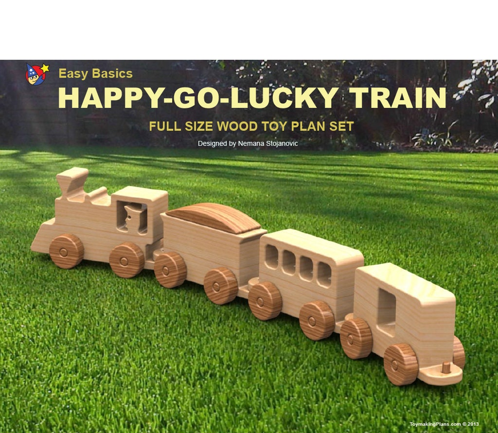 Wood Toy Plan Easy Basics Happy-Go-Lucky Train (PDF Download)