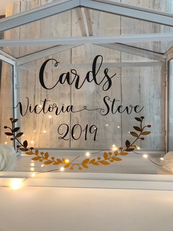 DIY Wedding Box//Crate Cards with Rose Vinyl Sticker Bundle Choice of Colours