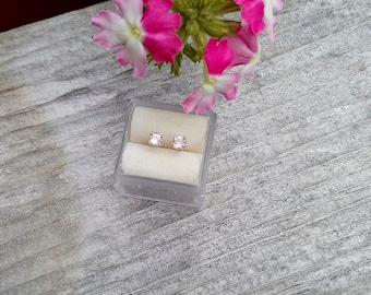Tourmaline Sweet Pink Studs Natural Faceted Marquise Cut 5 x 2.5 mm .20 Carat Earrings