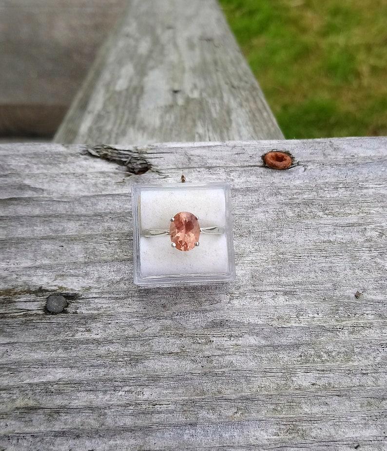 Master-cut Oregon pastel peach Natural Oregon Shiller Sunstone 9x7 mm Oval 1.62 Carat Ring Ring Size 7 Sunstone