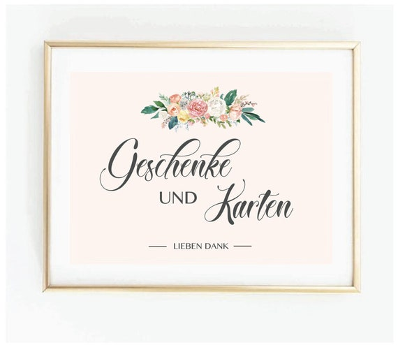 Wedding Sign For Gifts And Cards Wedding Reception Table Sign Etsy