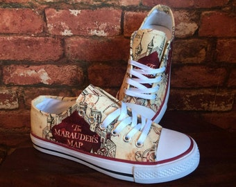83b4f1a28ce1 Harry Potter Inspired Marauders Map Shoes - Trainers - Mens - Women's -  Children's
