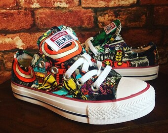 new arrival 61d21 ea317 Marvel Inspired Converse shoes - Trainers - Mens - Women s - Children s