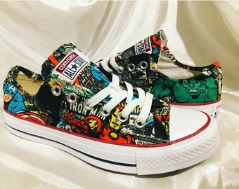 230f6ba8607 Marvel Inspired Converse Trainers