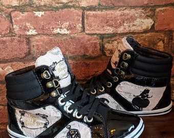 04d7af8a0f08 Alice In Wonderland High Tops - Alice in Wonderland Shoes - Custom -  Women s - Children s