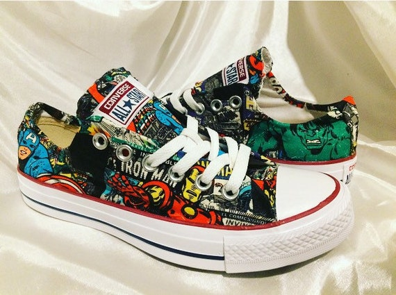5d699d7f15d87f Marvel Inspired Converse shoes Trainers Mens Women s