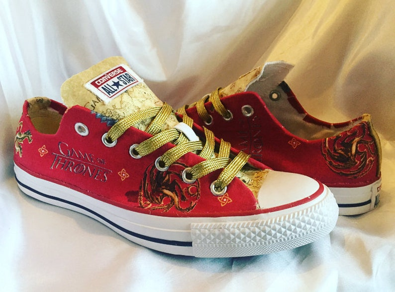 a5c5b8a5b205 Game of Thrones Shoes Converse Trainers GOT Custom