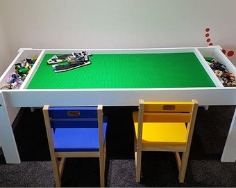 Kids Table With Storage, Building Bricks Table, Activity Table, Building  Blocks Table, Kids Table, Compatible With Lego® Table With Storage