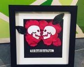 Till death do us part, framed gift, alternative wedding, skulled gift, skulls, till death, goth wedding, wedding gift,