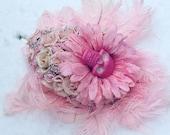 Skulled bouquet, gothic flowers, goth wedding, alternative wedding, pastel goth, pretty in pink, pink skull, gothic bouquet, feather bouquet