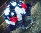 Large round skulled bridal bouquet, alternative wedding, skulls, goth bride, alternative bride, unique theme, bridal flowers, custom made
